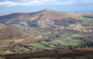 Llanbedr Village and the Sugar Loaf