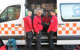 Members of the Brecon Mountain Rescue Team